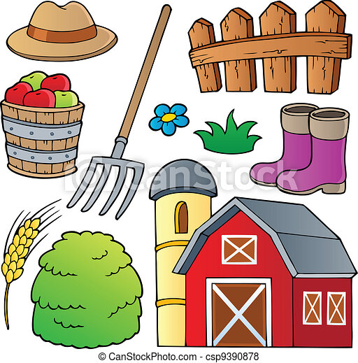 Farm theme collection 1 - csp9390878