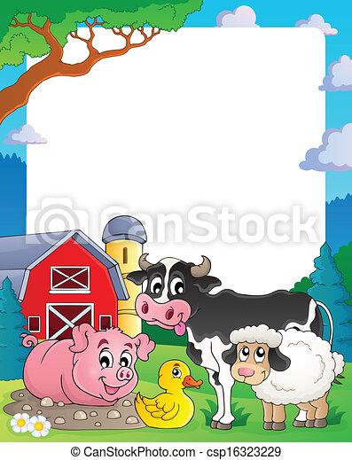 Farm theme frame 2 - csp16323229