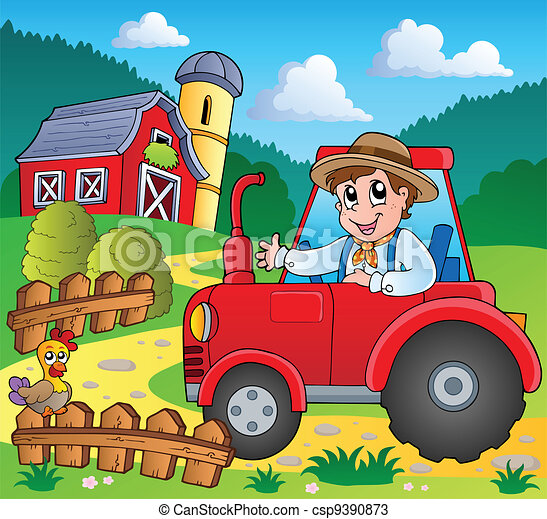 Farm theme image 3 - csp9390873
