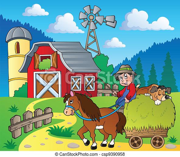Farm theme image 6 - csp9390958