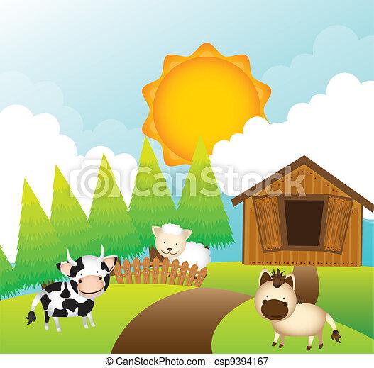 farm vector - csp9394167