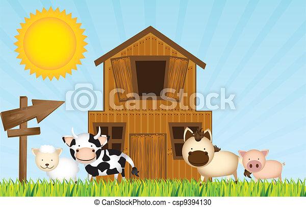 farm vector - csp9394130