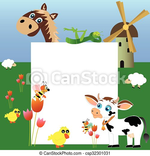 Farm with blank paper - csp32301031