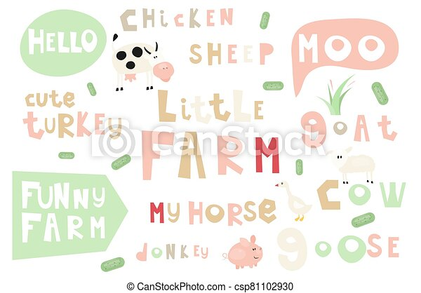 farm words and  phrases - csp81102930