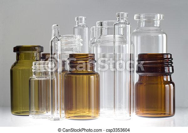 farmaceutisch, vials - csp3353604
