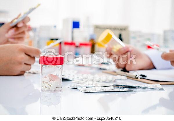 farmaceutisk, butik - csp28546210
