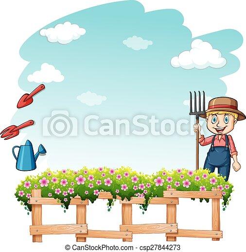 Farmer at the garden - csp27844273