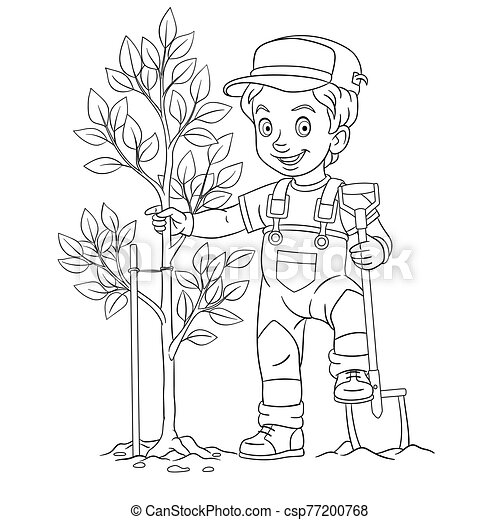 Desert oasis coloring pages for kids | 470x450