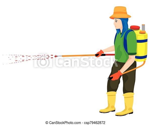 farmer cartoon shape on white background vector design - csp79462872