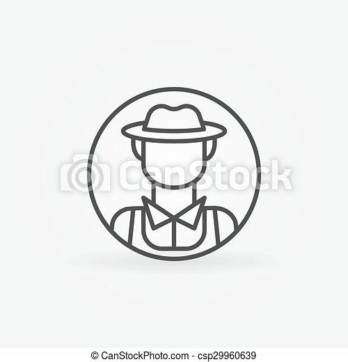 Farmer icon or logo