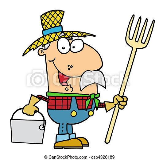 Farmer man - csp4326189
