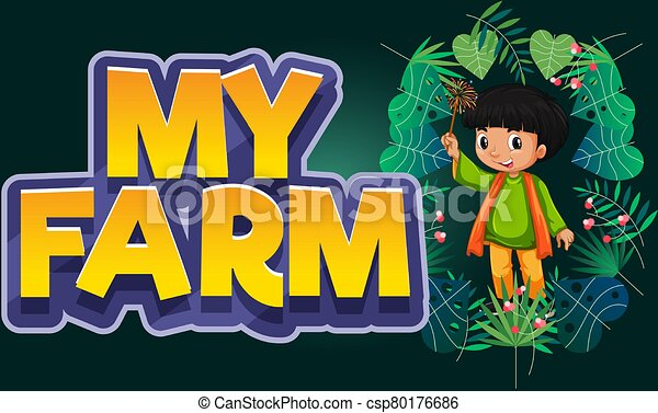 farmer with plants and abstract texture background - csp80176686