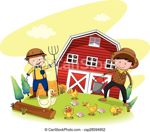 farmers two farmers working on the farm rh canstockphoto com farmers clip art free farmer clipart black and white