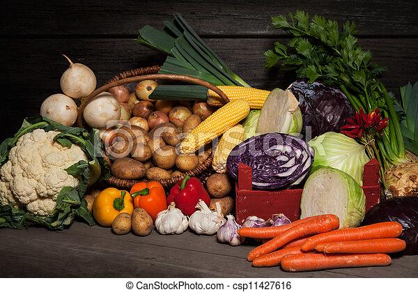 Farmer's Market - Organic Vegetables - csp11427616