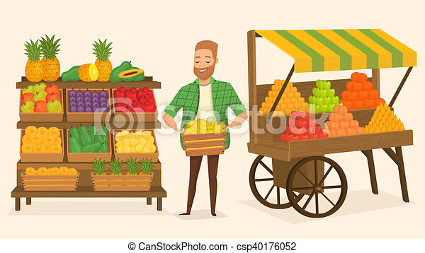 farmers market street food farmers market local farmer shopkeeper rh canstockphoto com farmers market clipart images farmers market stall clipart