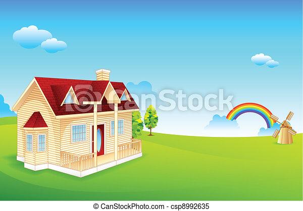 Farmhouse - csp8992635