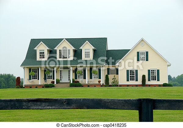 Farmhouse in the Country - csp0418235