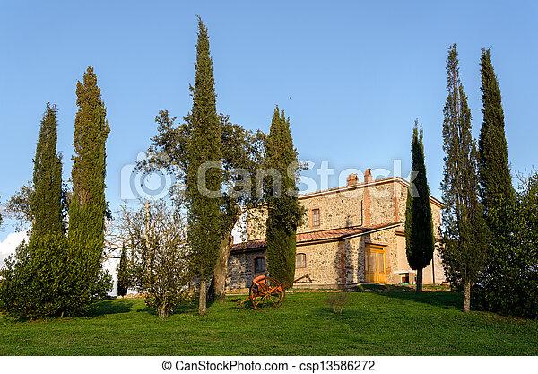 farmhouse in Tuscany - csp13586272
