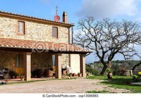 farmhouse in Tuscany - csp13586883