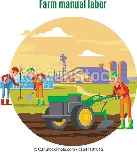 farming and agricultural manual labor concept with farmers vector rh canstockphoto com farming clipart free farming clipart free