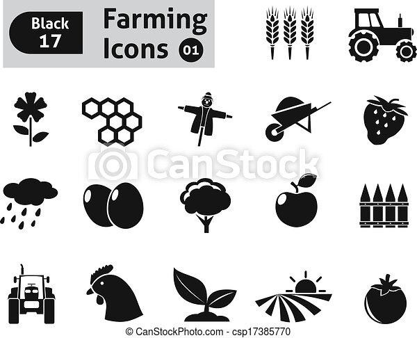 Farming icons - csp17385770