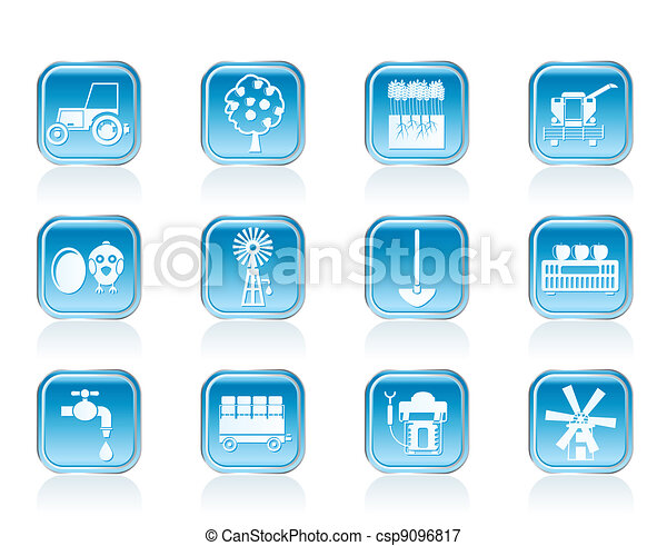 farming industry icons - csp9096817