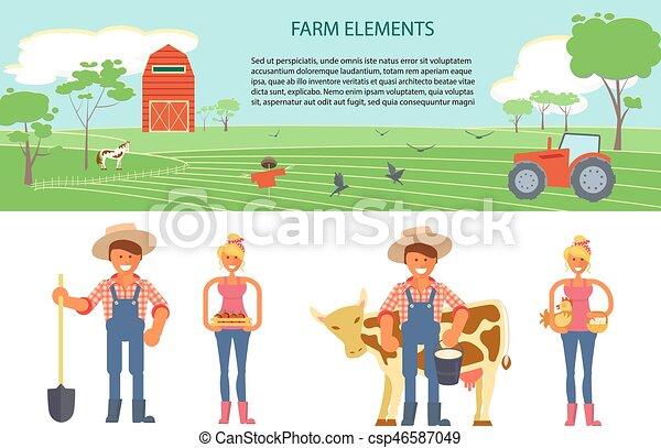 Farming infographic elements - csp46587049