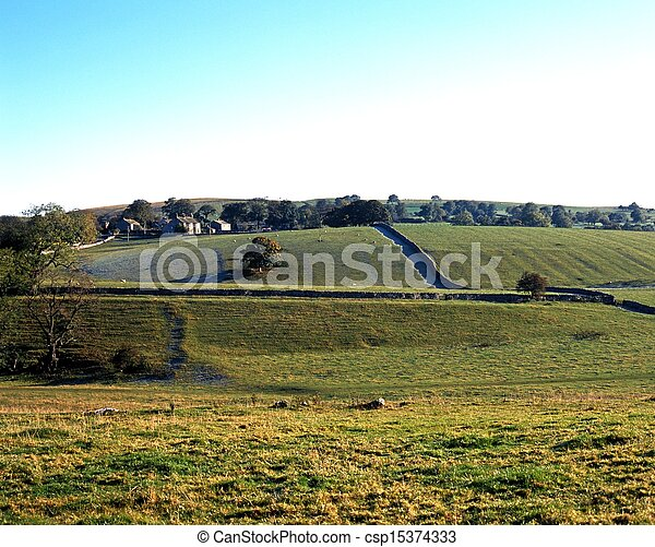 Farmland, Ayrton, Yorkshire Dales. - csp15374333