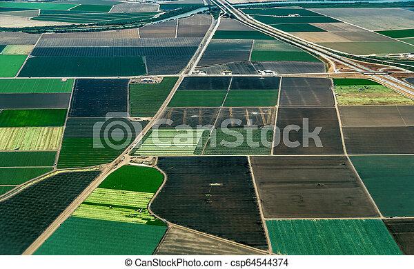 Farmland in Northern California - csp64544374
