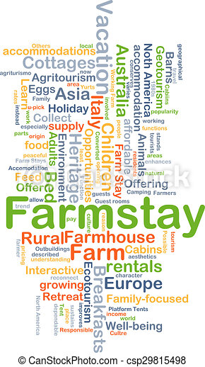 Farmstay background concept - csp29815498