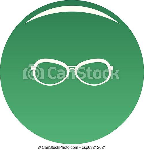 Farsighted glasses icon vector green - csp63212621