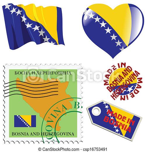farver, national, bosnia - csp16753491