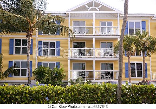 farverig, vest, florida, huse, nøgle, syd - csp5817643