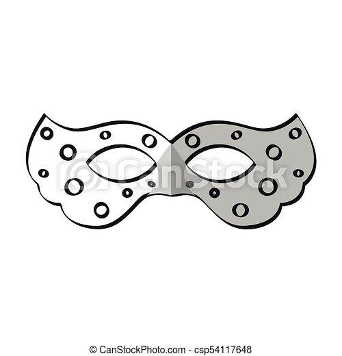 Fasching Maske Ikone Fasching Maske Abbildung Vektor Design