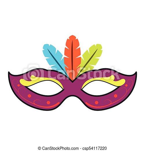 Fasching Maske Mardi Bild Gras Maske Abbildung Vektor Design