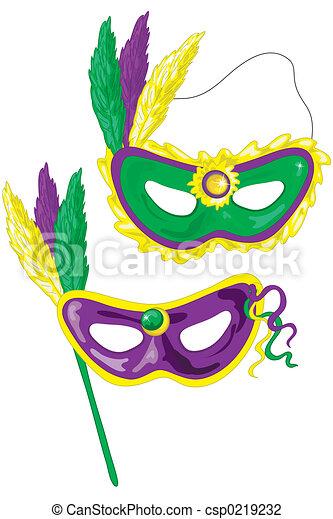 Fasching Masken Mardi Masks Dat Gras