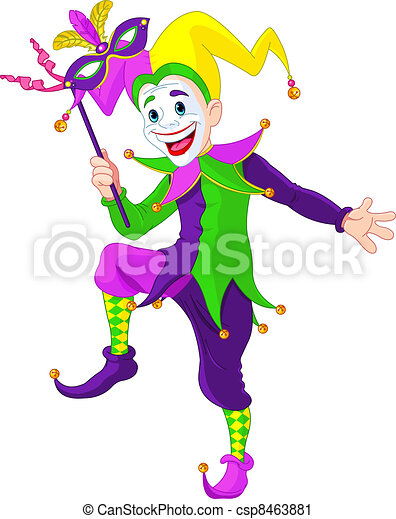 Fasching Spassmacher Mardi Kunst Klammer Gras Maske Spassmacher