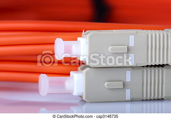 Fiberoptische Kabel. - csp3148735