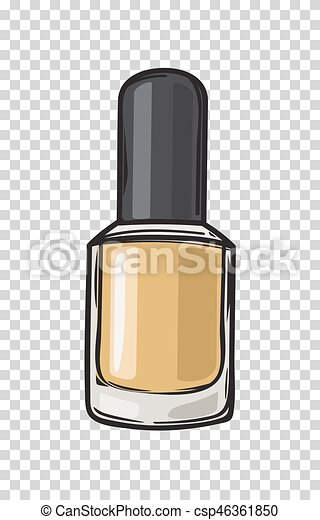 Fashioable Gold Nail Varnish Isolated Illustration Gold Nail