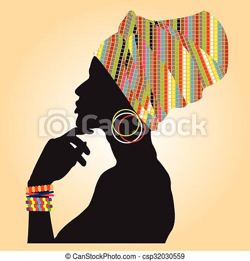 fashion., afrykanin - csp32030559