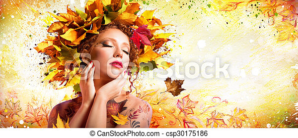 Fashion Art in Autumn - Artistic  - csp30175186