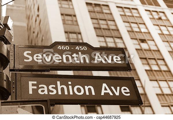 Fashion avenue street sign 32