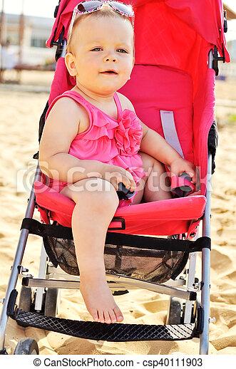 fashion baby in stroller - csp40111903