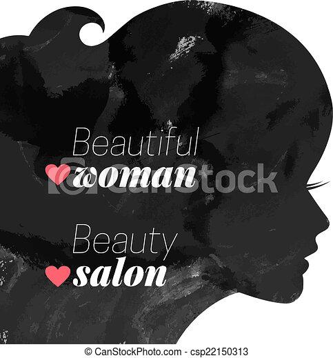 Fashion beautiful woman silhouette.  - csp22150313