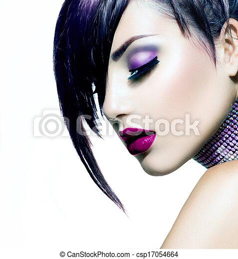 Fashion Beauty Girl. Gorgeous Woman Portrait  - csp17054664