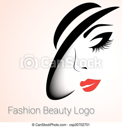 fashion beauty logo woman with hat fashion and beauty