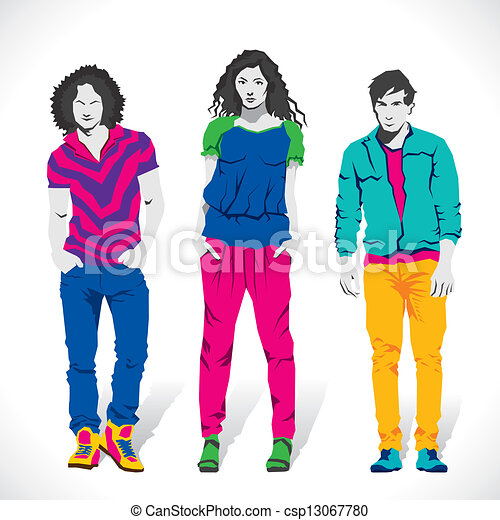 Fashion Boy And Girl Stock Vector Vector Search Clip Art Illustration Drawings And Eps