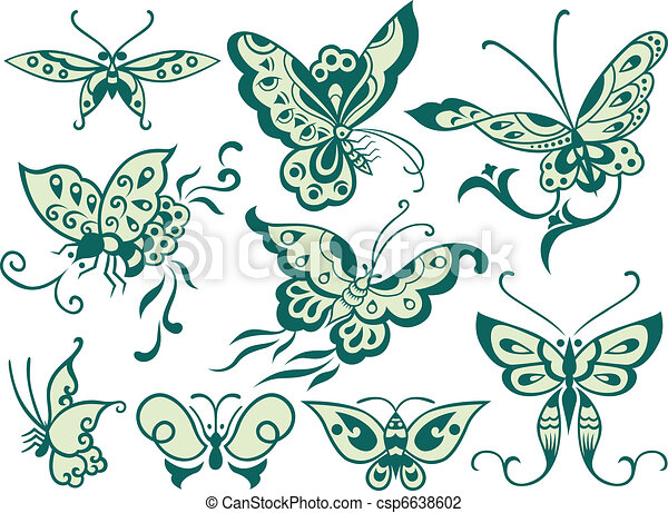 fashion butterfly design - csp6638602