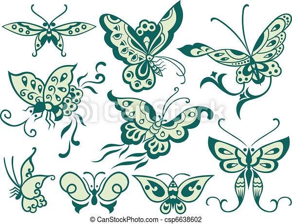 fashion butterfly design - csp6638602