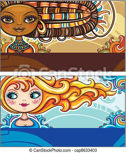 Fashion cards - csp8633403